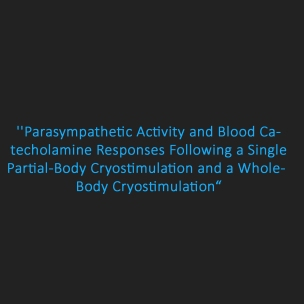 parasympathetic activity and catecholamine responses cryostimulation